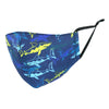 Kid's Shark Print Protective Face Mask with Adjustable Straps