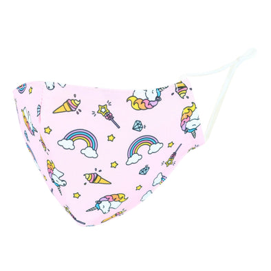 Kid's Unicorn Print Protective Face Mask with Adjustable Straps