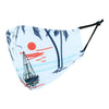 Adult Island Boat Print Adjustable Face Mask