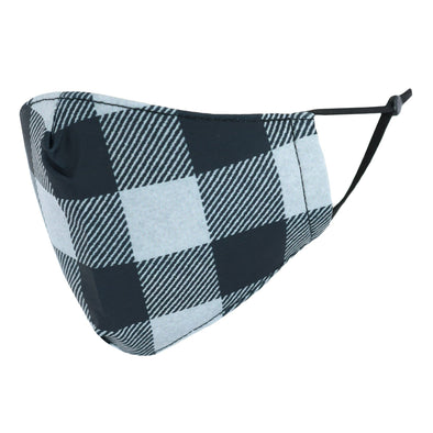 Adult Checker Plaid Print Adjustable Face Mask