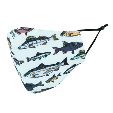 Adult Fish Print Adjustable Face Mask