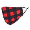 Adult Adjustable Plaid Print Face Mask