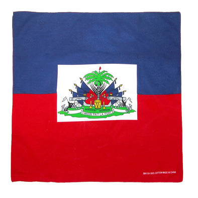 Cotton Haitian Flag Bandana Set (Pack of 12)