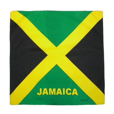 Cotton Jamaica Flag Bandana Set (Pack of 12)