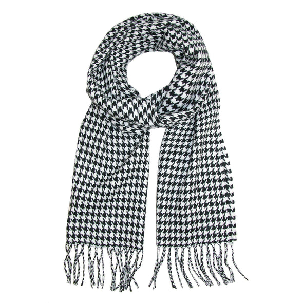 Softer Than Cashmere Houndstooth Winter Scarf