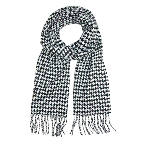 David & Young Softer Than Cashmere Houndstooth Winter Scarf