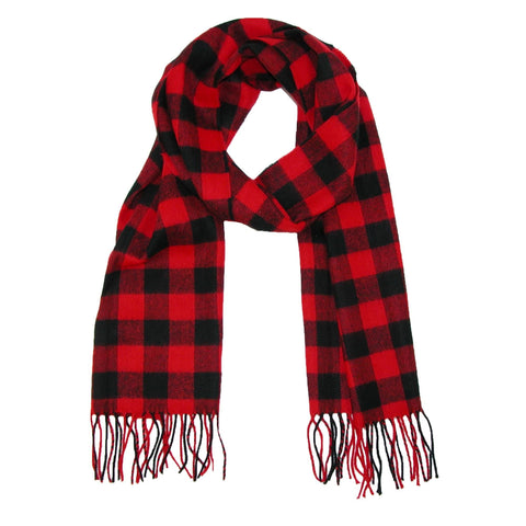David & Young Softer Than Cashmere Buffalo Plaid Winter Scarf