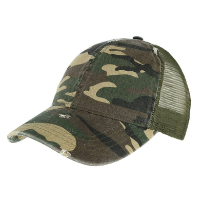 Women's Camo Cotton Ponytail Baseball Cap