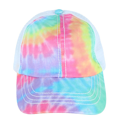 Girl's Tie-Dye Adjustable Ponytail Baseball Cap
