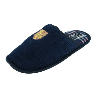 Men's Corduroy and Plaid Slide Slippers