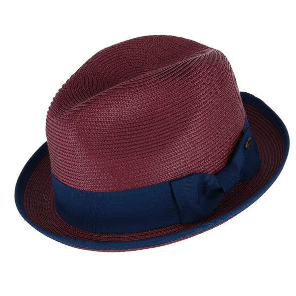 Men's Fedora with Contrast Band and Trim