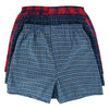 Men's Big and Tall Plaid Tartan Boxer Underwear (3 Pack)