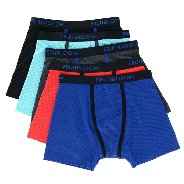 Boy's Breathable Micro Mesh Boxer Brief (5 Pair Pack)