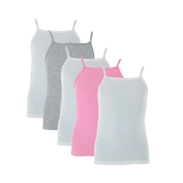 Girl's Cami Undershirts (5 Pack)