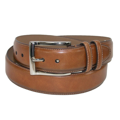 Men's Leather Cognac Double Loop Belt