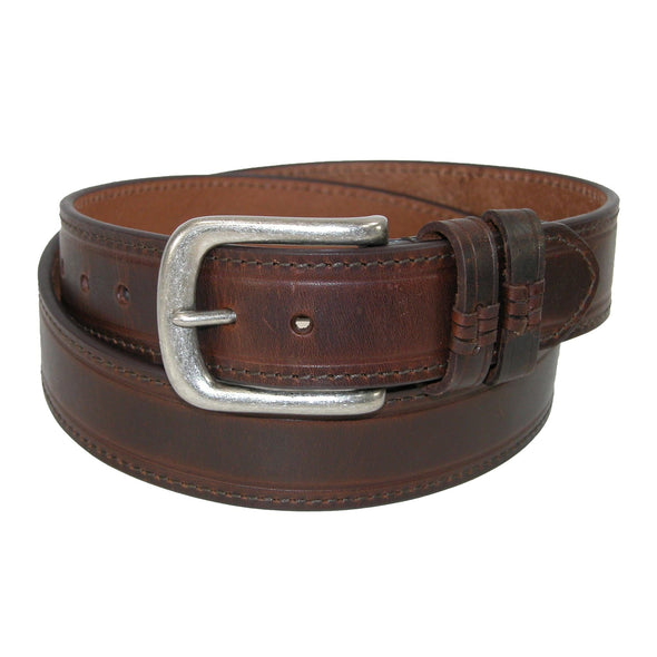 Men's Big & Tall Leather Belt with Double Loops