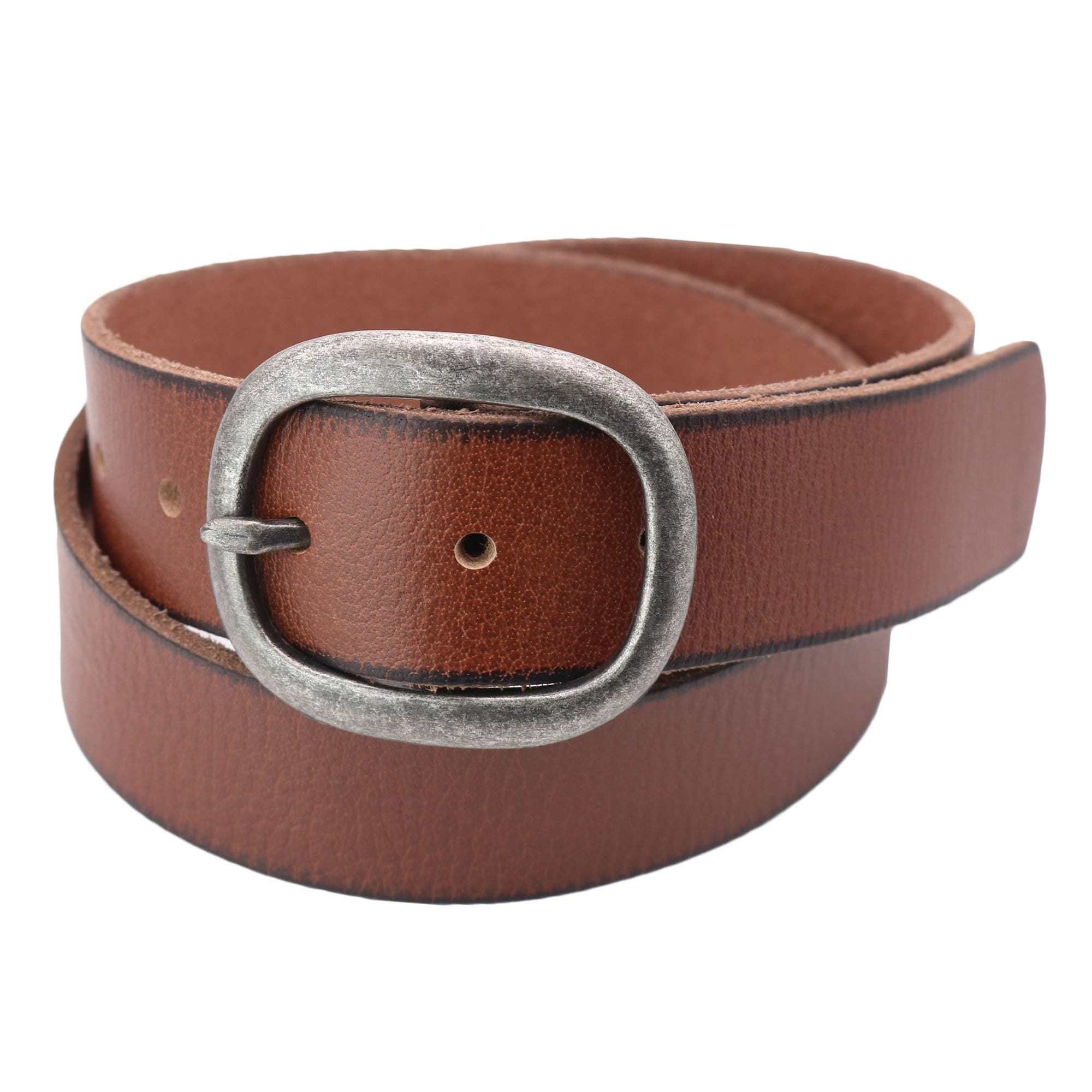 Cowgirls Rock Women's Center Bar Buckle Belt with Burnished Edges