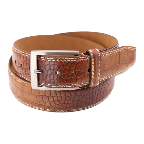 Men's Croco Print Golf Belt