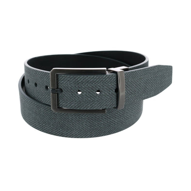 Men's Tweed to Leather Reversible Belt