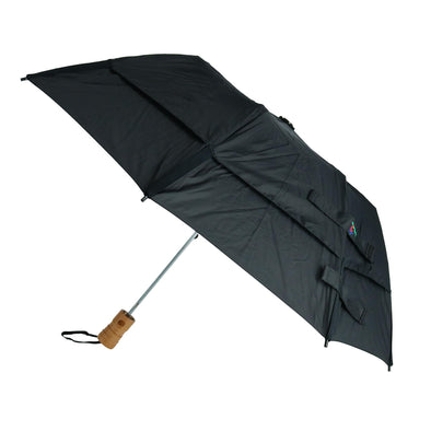 Metro Solid Color Auto Open Vented Compact Umbrella
