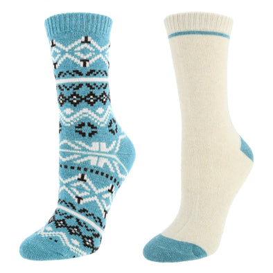 Women's Fairisle Crew Socks (2 Pair Pack)