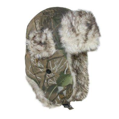 Men's Camo Winter Aviator Hat with Ear Flaps