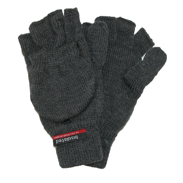 Men's Knit Flip Top Insulated Gloves