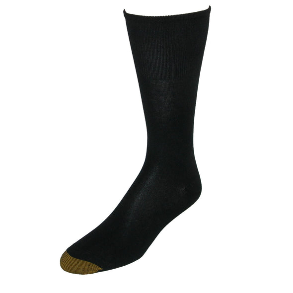 Men's Bamboo Non Binding Mid-Calf Socks (2 Pair Pack)