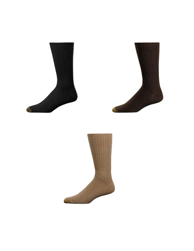 Men's Fluffies Cotton Crew Socks (Pack of 3)