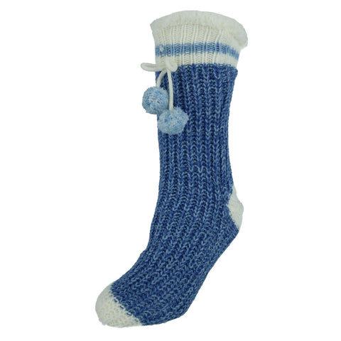 Women's Sherpa Lined Knit Home Socks