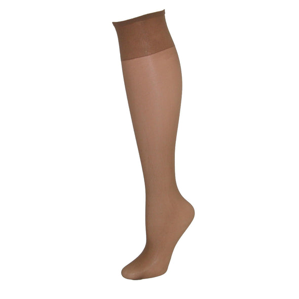 Just My Size Sheer Toe Knee High Hose  (4 Pair Pack)