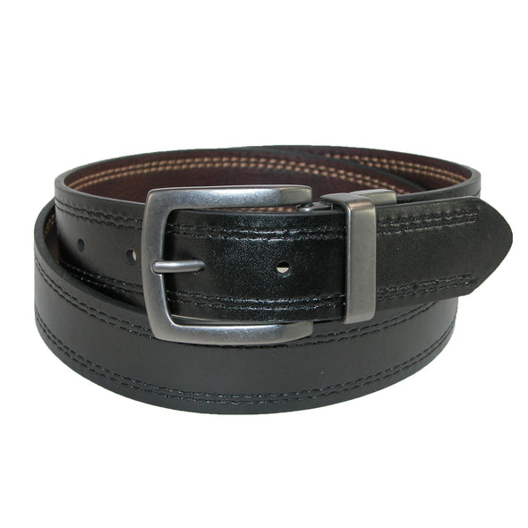 Men's Reversible Belt with Contrast Stitch