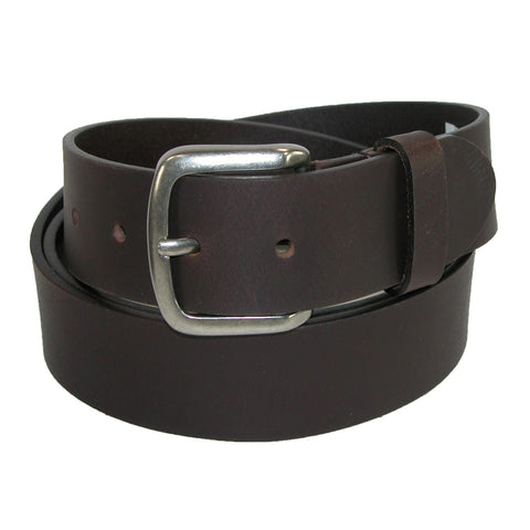 Men's Big & Tall Leather 40mm Cut Edge Bridle Belt
