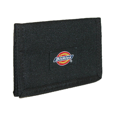 Men's Nylon Trifold Wallet with Fabric Hook and Loop Closure