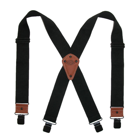 Men's Industrial Strength Ballistic Nylon Clip End Work Suspenders