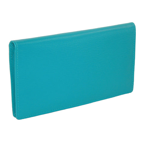 Women's Leather Basic Checkbook Cover in Fashion Colors