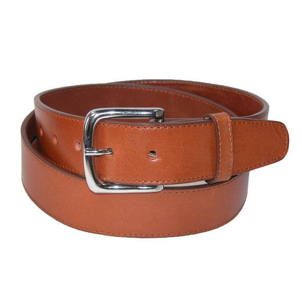Men's Leather Money Belt Removable Buckle