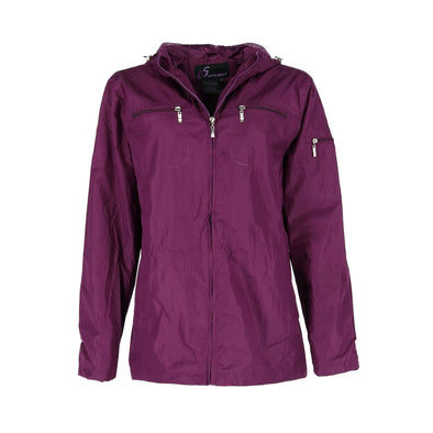 Women's Hooded 3/4 Length Rain Jacket