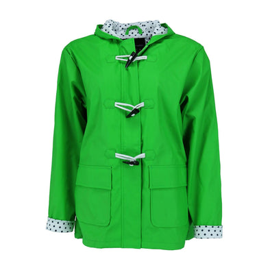 Kid's Hooded Waxie Toggle Rain Slicker Jacket