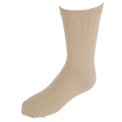 Kids' Cotton Ribbed Uniform Crew Socks