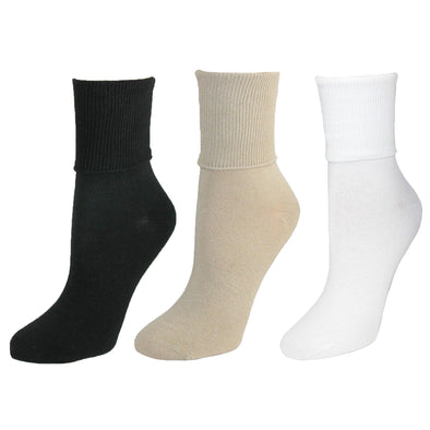 Women's Organic Cotton Turn Cuff Sock (Pack of 3)