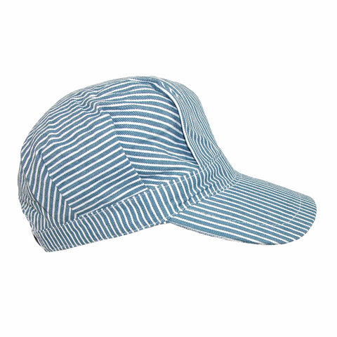 Kids' Cotton Blue Stripe Train Engineer Cap