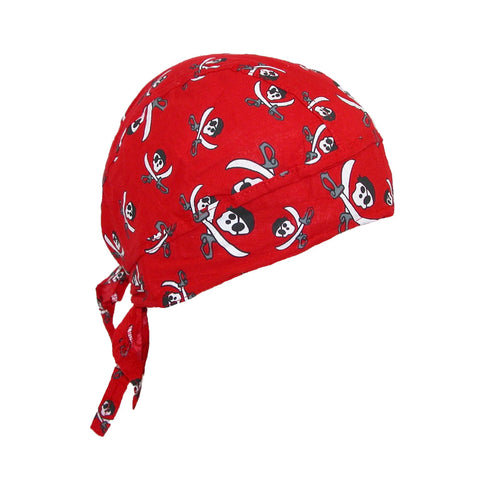 Cotton Pirate Crossed Knives Skull Do Rag Cap
