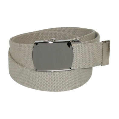 Cotton Adjustable Belt with Nickel Buckle