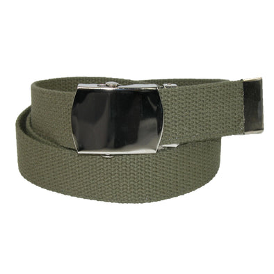 Big & Tall Cotton Adjustable Belt with Nickel Buckle