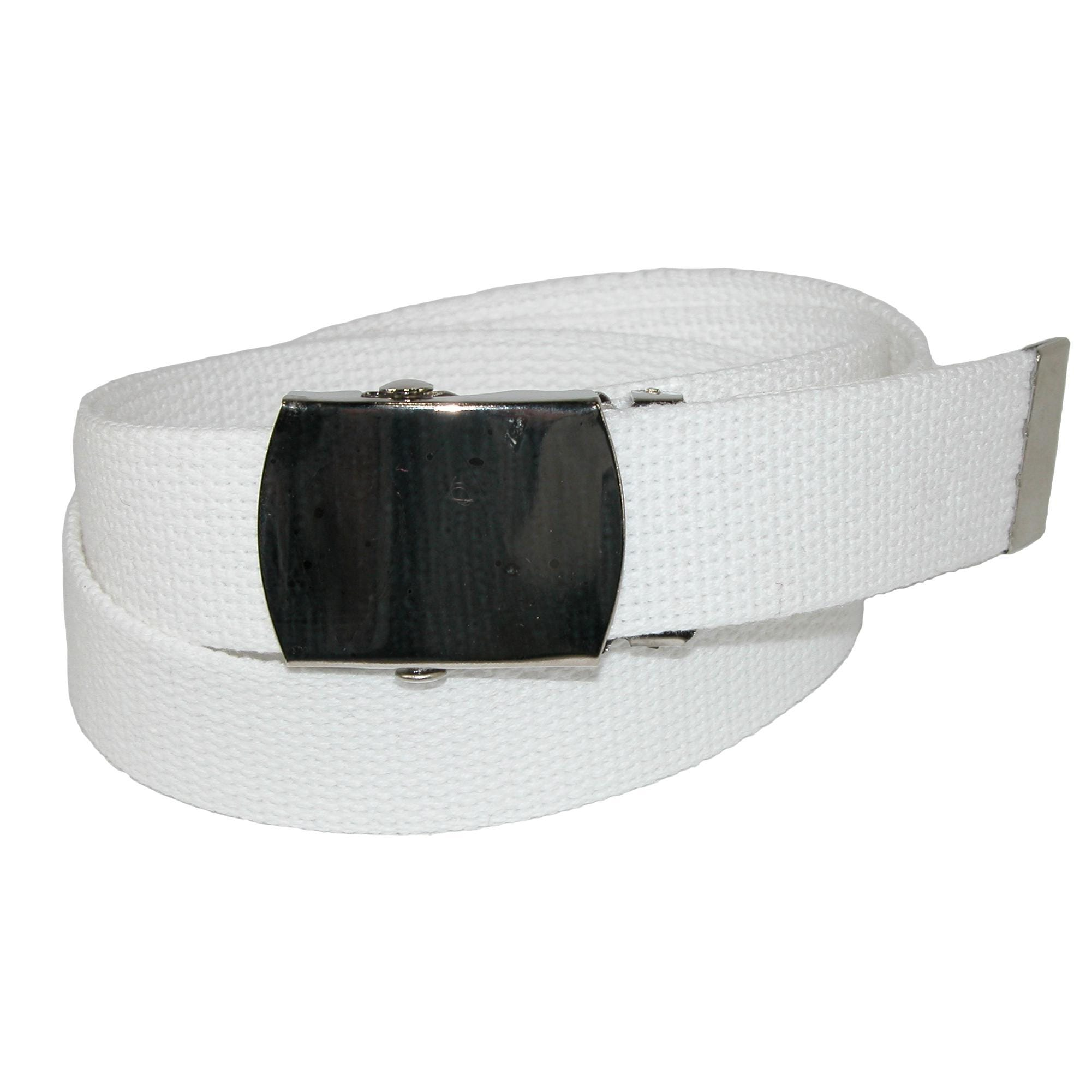 CTM  Cotton Adjustable Belt with Nickel Finish Buckle (Pack of 3)