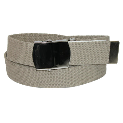 Big & Tall Cotton Belt with Nickel Finish Buckle (Pack of 3)