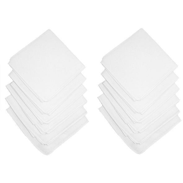 Cotton White Handkerchiefs (Pack of 12)