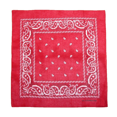 Cotton Paisley All-Purpose Bandanas (Pack of 5 of Same Color)