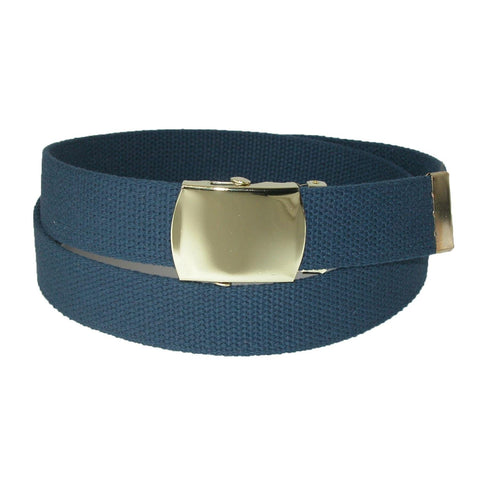 Cotton Adjustable Belt with Brass Buckle